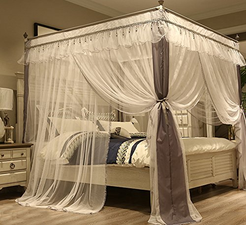 4 Corner Canopy Bed Curtains For S Canopies Mosquito Net Frame Draperies
