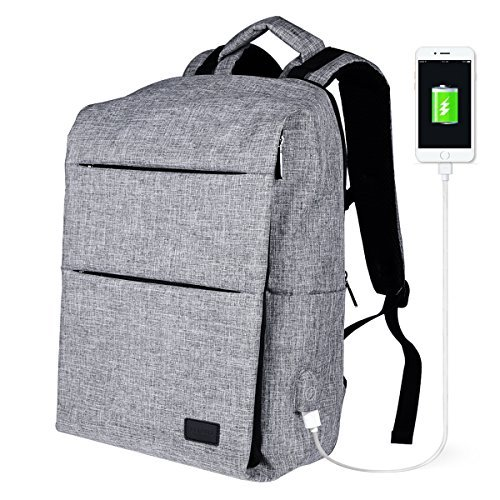 e9c8eb9beec6 Anti Theft Travel Laptop Backpack with USB Charging Fits 15.6 Inch Laptop