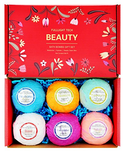 Beautiful Bath Bombs Gift Set 6 Packs 3 0 oz Natural Essential Oils & Dry Flower Spa Lush Bath Fizzies Great Gifts for Women Mom Valentine Birthdays for Teen Girls Ideas - Fresh organic bath bombs Review