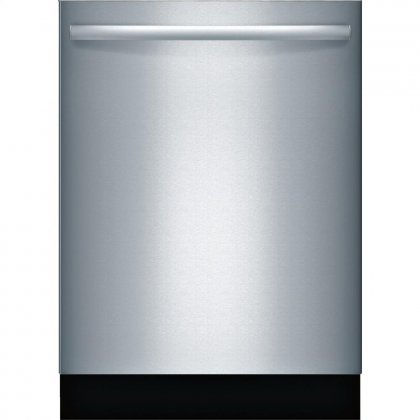 "Bosch SGX68U55UC 24"" 800 Series Energy Star Rated Dishwasher with 15 Place Settings 6 Programs and 5 Options AquaStop Plus Stainless Steel Tub and ActiveTab Tray in Stainless"