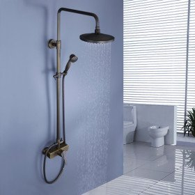 Detroit Bathware 8 Shower Head Wall Mounted Bathroom With Handheld