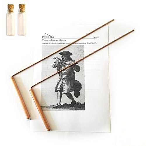 Dowsing Rod Copper -Solid Material 99% - Ghost Hunting, Divining Water, Gold, Buried Items, etc. Instructions and Video Sources Included - 5x13 Inch – Non-toxic