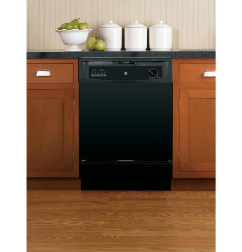 "GE GIDDS-289557 Built-In 24"" Dishwasher, Black, 5 Cycles/3 Options"