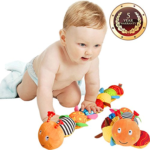 Musical Caterpillar Toy Jcobay Interactive Multicolored Infant Toy