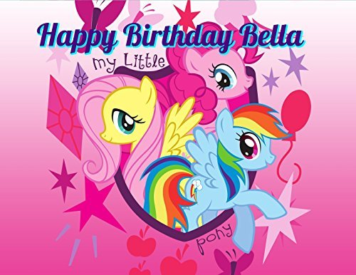 My Little Pony Edible Image Photo Cake Topper Sheet Personalized Custom Customized Birthday Party