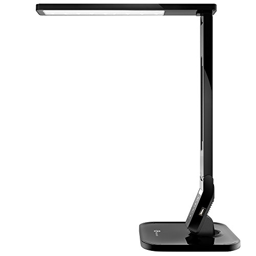 TaoTronics LED Desk Lamp with USB Charging Port, Touch Control, 4 Lighting Mode with 5 Brightness Levels, Timer, Memory Function, Black, 14W
