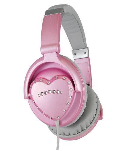 Vestax HMX-1 Pink Heart Shaped Headphones