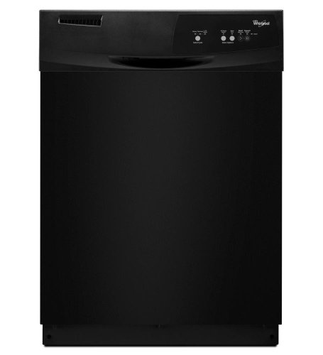 "WHIRLPOOL GIDDS-293411 Tall Tub Built-In 24"" Dishwasher With Front Controls, Black, 3 Cycles/2 Options"